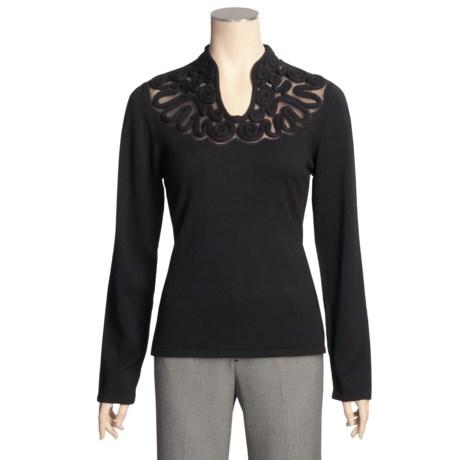 Avalin Rope-Yoke Sweater - Long Sleeve (For Women)