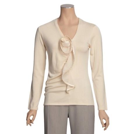 Avalin Satin Rosette Sweater (For Women)