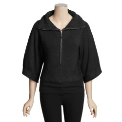 Avalin Cropped Cardigan Sweater - Zip, 3/4 Sleeve (For Women)