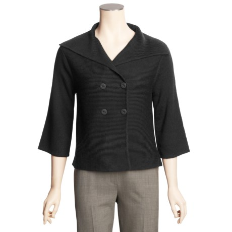 Avalin Crop Cardigan Sweater - Double-Breasted (For Women)