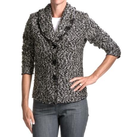 Avalin Melange Novelty Shawl Jacket (For Women)
