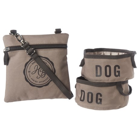 Harry Barker Travel Dog Bowls with Storage Pouch - Small