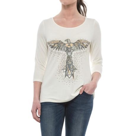 Wrangler Rock 47 Stretch Knit Shirt - 3/4 Sleeve (For Women)