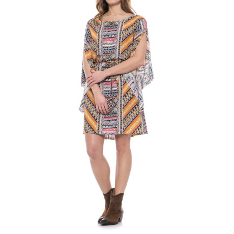 Wrangler Rock 47 Aztec Open Sleeve Dress - 3/4 Sleeve (For Women)