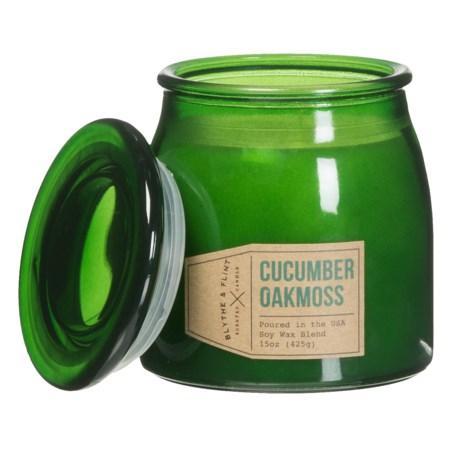 Blythe & Flint Cucumber Oakmoss Soy-Blend Candle - 15 oz.