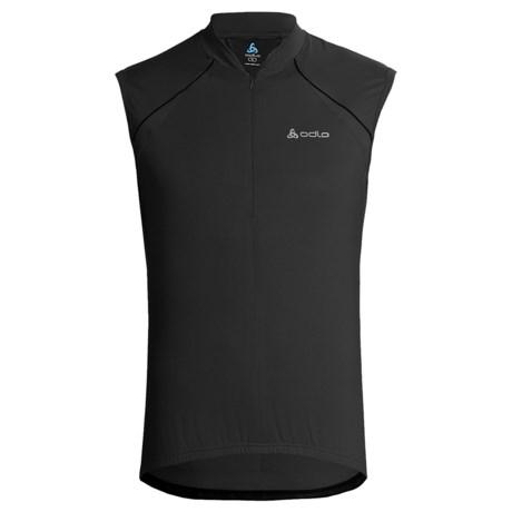 Odlo Thunder Cycling Jersey - Zip Neck, Sleeveless (For Men)