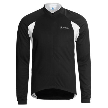 Odlo Mission Cycling Jersey - UPF 30+, Zip Neck , Long Sleeve (For Men)