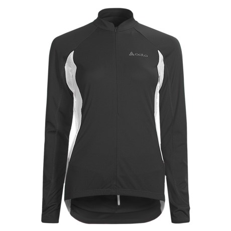 Odlo Mission Cycling Jersey - UPF 30+, Zip Neck, Long Sleeve (For Women)