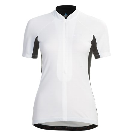 Odlo Zoom Cycling Jersey - UPF 30+, Zip Neck, Short Sleeve (For Women)