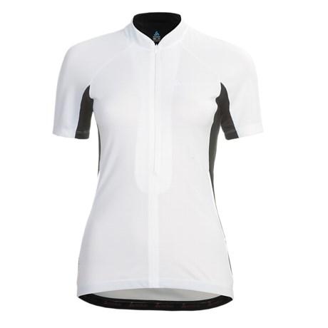 Odlo Zoom Cycling Jersey - UPF 30+, Zip Neck, Short Sleeve (For Women)