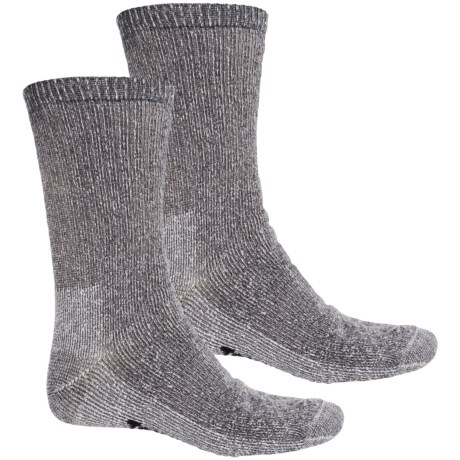 Terramar Midweight Hiking Socks - Merino Wool, Crew, 2-Pack (For Men)