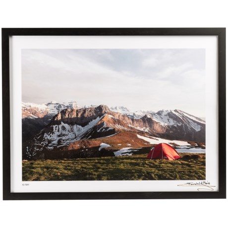 Luxe West Fairchild Paris Tent Before Mountain Print - 18x24""