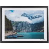 "Luxe West Fairchild Paris Vintage Cloudy Mountain and Canoe Print - 18x24"""