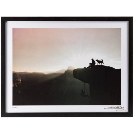 "Luxe West 18x24"" Fairchild Paris Man and His Best Friend Atop Mountain Print"