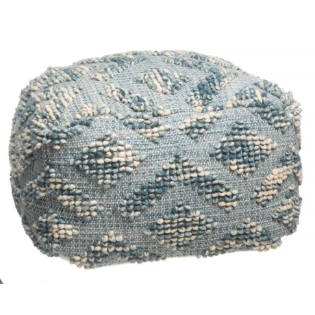 elephant tag Diamond Textured Pouf Ottoman - 24x24x14""