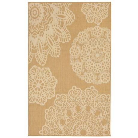 "Liora Manné Terrace Crochet Collection Area Rug - 4'10""x7'6"", Indoor/Outdoor"