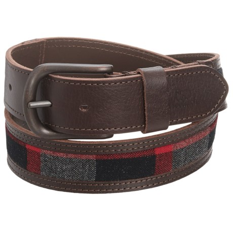 Woolrich Mill Wool and Leather Belt (For Men)