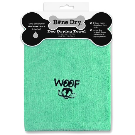 "Bone Dry ""Woof"" Microfiber Drying Towel - 44x27.5"""