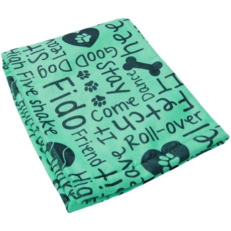 "Bone Dry Printed Dog Words Microfiber Drying Towel - 44x27.5"""