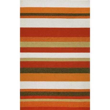 "Liora Manné Ravella Stripe Collection Area Rug - 5'x7'6"", Indoor/Outdoor"