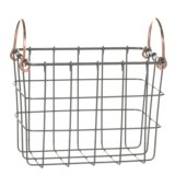 neatfreak! Michael Graves Small Rectangle Wire Bin - Copper Handles