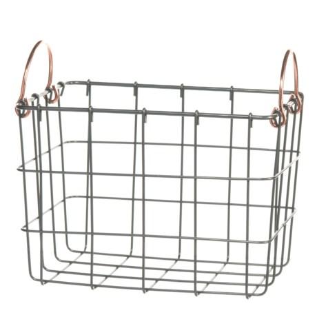 neatfreak! Michael Graves Medium Rectangle Wire Bin - Copper Handles