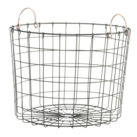 neatfreak! Round Wire Bin - Copper Handles