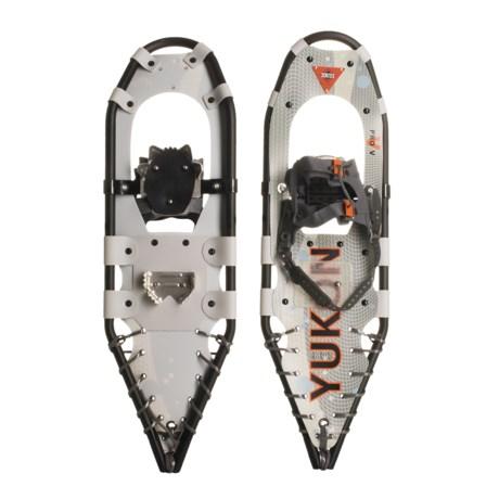 "Yukon Charlie's Pro Guide V Snowshoe Kit - 9x30"" Snowshoes, Poles, Bag"