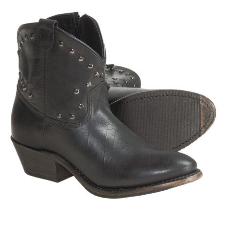 Vintage Shoe Company Luisa Studded Cowboy Boots - Leather (For Women)