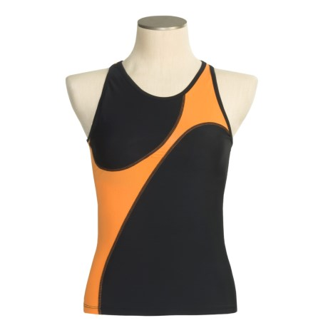 Skirt Sports Tri Tank Top - Built-In Sports Bra (For Women)