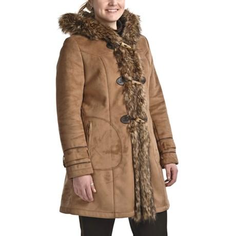 Weatherproof Faux-Shearling Coat - Hooded (For Women)