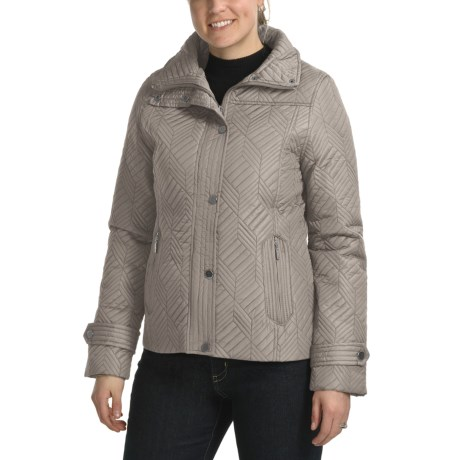 Weatherproof Mosaic Quilted Jacket - Full Zip (For Women)