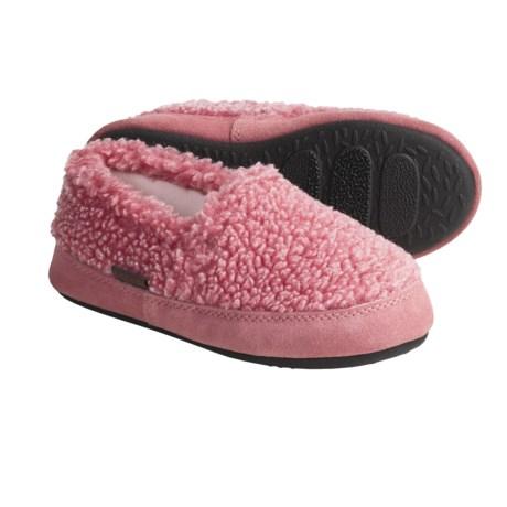 Acorn Tex Moc Slippers - Berber Fleece (For Girls)
