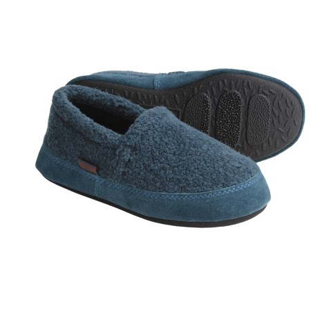 Acorn Tex Moccasins - Berber Fleece (For Boys)