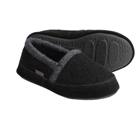 Acorn Cozy Moc Slippers - Boiled Wool (For Boys)