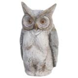 "UMA Polystone Owl Statue - 9x17"""