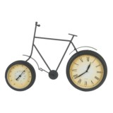 "UMA Metal Clock and Thermometer Bike - 22x13"""