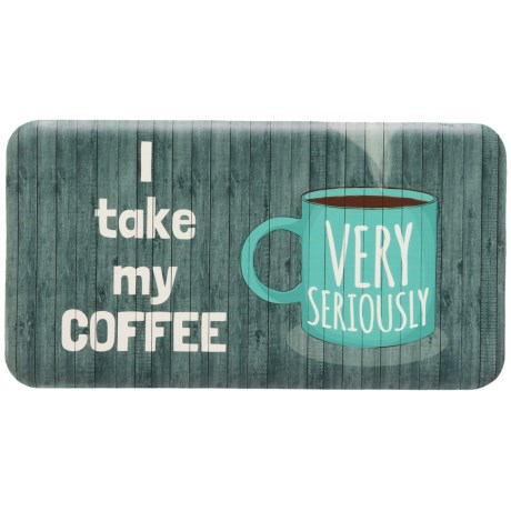 "David Burke Premier Kitchen ""Coffee Very Seriously"" Anti-Fatigue Kitchen Mat - 20x36"""