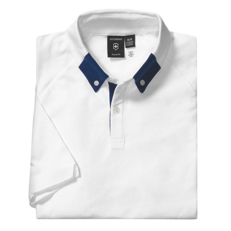 Victorinox Swiss Army Polo Shirt - Stretch Cotton Pique, Short Sleeve (For Men)