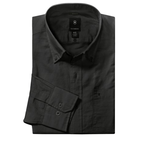 Victorinox Swiss Army Cotton-Linen Shirt - Long Sleeve (For Men)