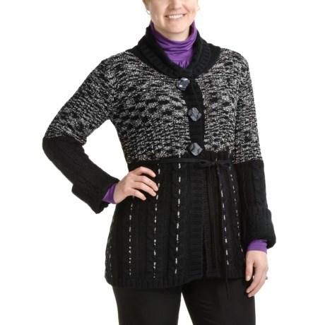 Z Granite Long Cardigan Sweater - Shawl Collar (For Women)