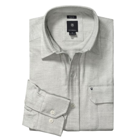 Victorinox Swiss Army Victorinox Classic Fit Twill Shirt - Flannel, Long Sleeve (For Men)