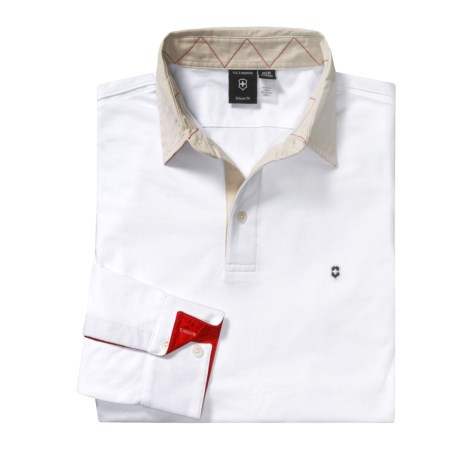Victorinox Swiss Army Modern Rugby Polo Shirt - Long Sleeve (For Men)