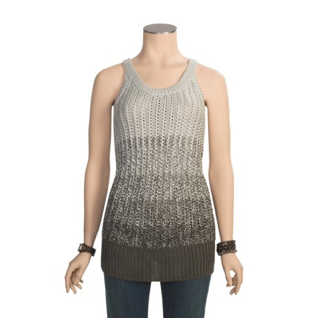Specially made Tweed Shaker Long Knit Sweater - Sleeveless (For Women)