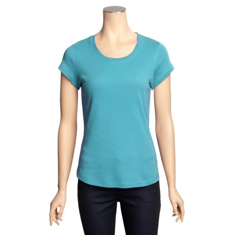 Cotton Knit Shirt - Short Sleeve (For Women)