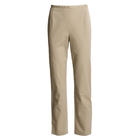 Stretch Cotton Twill Pants - Tapered Leg (For Women)