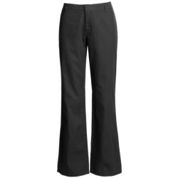 Bootcut Cotton Twill Pants - Flat Front (For Women)