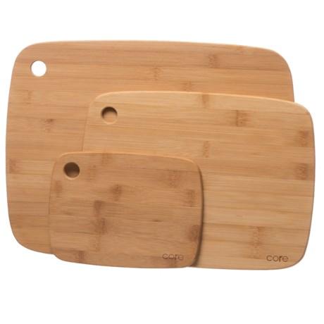 Core Bamboo Classic Cutting Board Set - 3-Piece