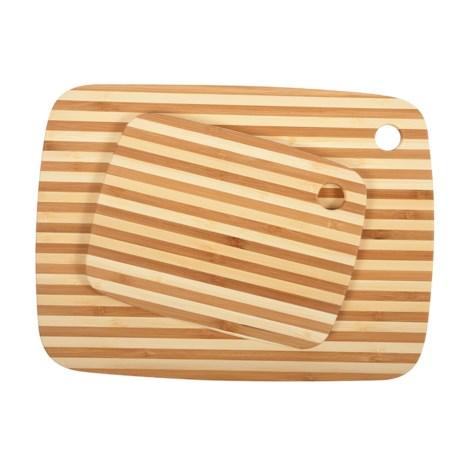 Core Bamboo Classic Pinstripe Cutting Board Combo Pack - 2-Piece Set