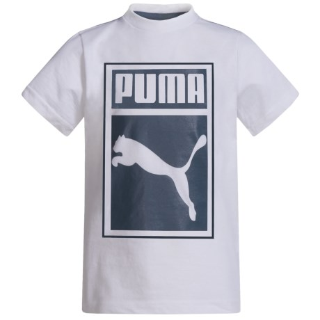 Puma Logo Graphic T-Shirt - Short Sleeve (For Little Boys)